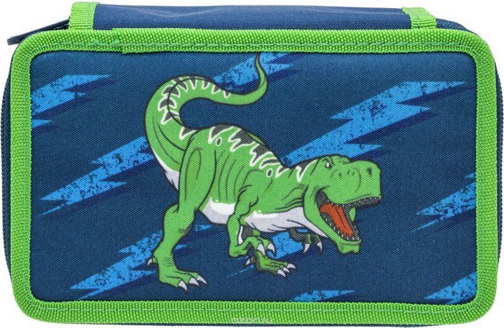 Tiger Family Пенал Compact Collection цвет синий зеленый