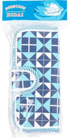 Calligrata Пенал школьный 2 отделения Геометрия цвет синий 2924179