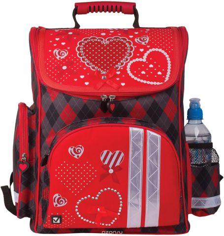 Brauberg Ранец школьный Сердце 226269