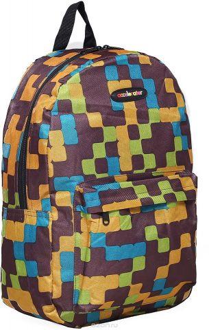 Рюкзак детский Квадраты цвет коричневый 1660989