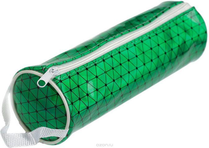 Calligrata Пенал школьный Голография неон цвет зеленый 2879269