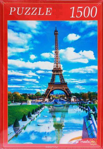 Рыжий Кот Пазл Париж Эйфелева Башня и отражение