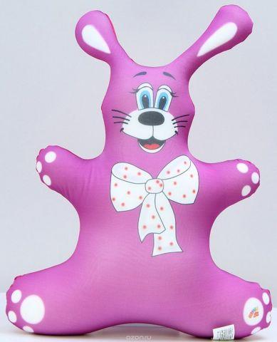 Штучки, к которым тянутся ручки Подушка-игрушка антистрессовая Заяц цвет розовый