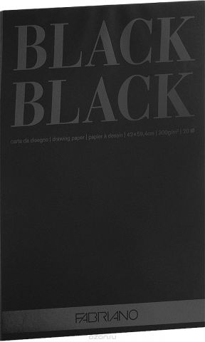 Fabriano Альбом для рисования BlackBlack 20 листов формат A2