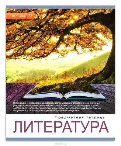 Проф-Пресс Тетрадь Мир вокруг Литература 48 листов в линейку