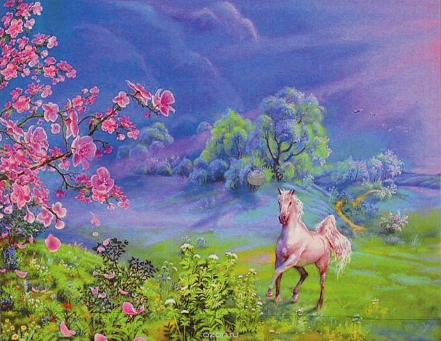 """Картина по номерам Школа талантов """"Лошадка на лугу"""", 3462710, 30 х 40 см"""