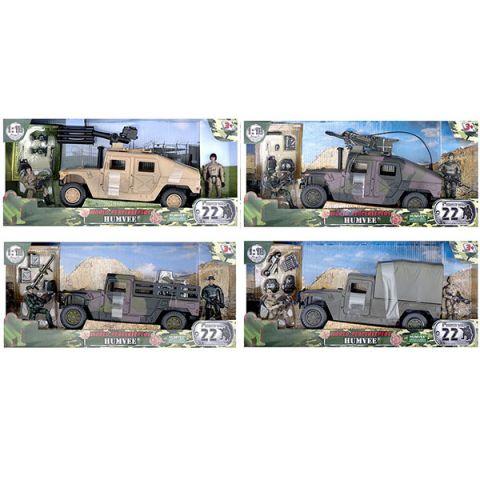 "World Peacekeepers MC77023 Игровой набор ""Humvee"" 2 фигурки, 1:18"