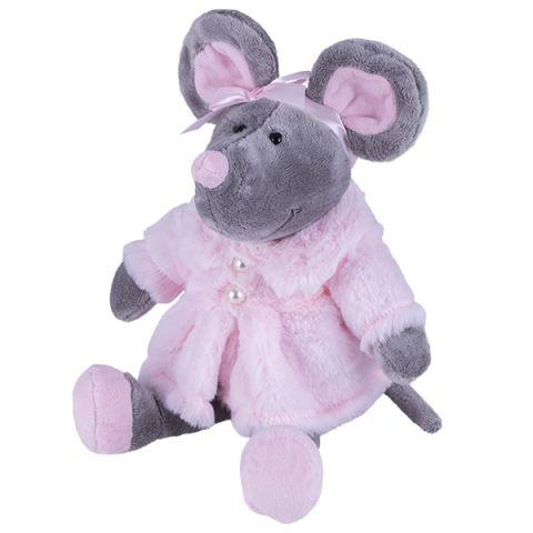 SOFTOY S883/20 Мягкая игрушка Мышь в шубе