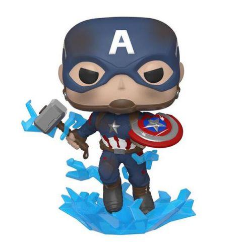 Funko 45137F Фигурка Funko POP! Bobble: Marvel: Avengers Endgame: Capt A w/BrokenShield&Mjolnir